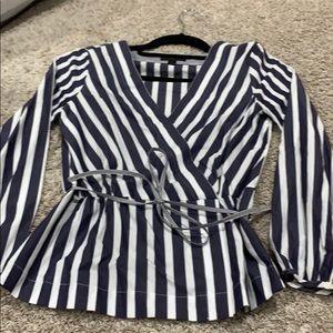 Jcrew tie waist blouse